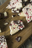 Homemade Sweet Peppermint Bark Stock Images