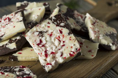 Homemade Sweet Peppermint Bark Royalty Free Stock Photography