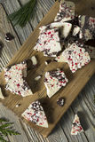 Homemade Sweet Peppermint Bark Royalty Free Stock Photo