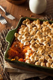 Homemade Sweet Potato Casserole Stock Photos