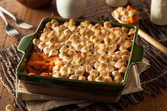 Homemade Sweet Potato Casserole Royalty Free Stock Photography