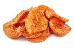 Homemade sweet potatoes chips Royalty Free Stock Image