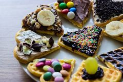 Homemade sweet Waffles Royalty Free Stock Images
