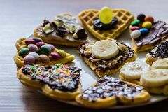 Homemade sweet Waffles Royalty Free Stock Photography