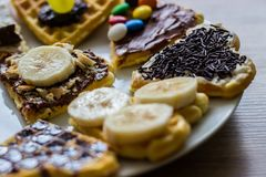 Homemade sweet Waffles Royalty Free Stock Image