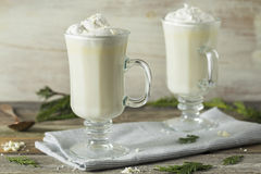 Homemade Sweet White Hot Chocolate Royalty Free Stock Photography