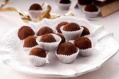 Homemade sweets. With chocolate and orange liqueur Royalty Free Stock Photo