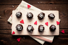 Homemade sweets  with chocolate Royalty Free Stock Images