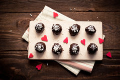 Homemade sweets  with chocolate Royalty Free Stock Photo
