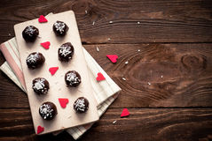 Homemade sweets  with chocolate Royalty Free Stock Image