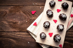 Homemade sweets  with chocolate Royalty Free Stock Photography