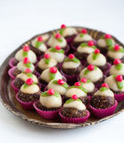 Homemade sweets with marzipan Royalty Free Stock Image