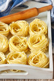 Homemade tagliatelle. Royalty Free Stock Photography