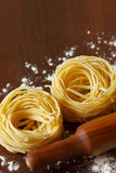 Homemade tagliatelle. Royalty Free Stock Images