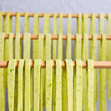 Homemade tagliatelle green Stock Images