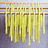 Homemade tagliatelle green royalty free stock images