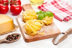 Homemade tagliatelle Royalty Free Stock Image