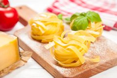 Homemade tagliatelle Royalty Free Stock Photo
