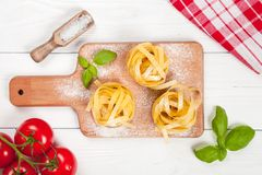 Homemade tagliatelle Stock Photography
