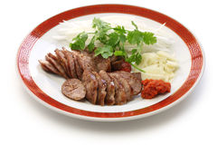 Homemade taiwanese pork sausage Stock Image