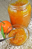 Homemade tangerine jam or marmalade Royalty Free Stock Photos