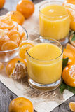 Homemade Tangerine Juice Royalty Free Stock Photo