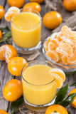 Homemade Tangerine Juice Stock Images