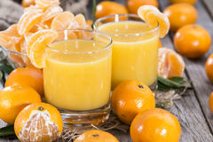 Homemade Tangerine Juice Royalty Free Stock Images
