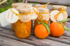 Homemade tangerine marmalade Stock Photo