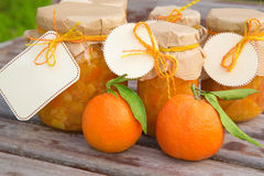 Homemade tangerine marmalade in the glass Stock Image