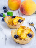 Homemade tartlets with fruits Stock Image