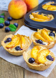 Homemade tartlets with fruits Royalty Free Stock Photography