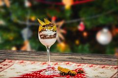 Homemade tasty christmas delicacy with apples and cinnamon.  Stock Photography