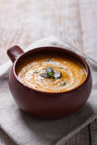 Homemade tasty creamy pumpkin soup puree in a bowl Royalty Free Stock Photos