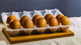 Homemade, tasty and fresh chicken eggs royalty free stock photo