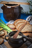 Homemade tasty lard. Stock Images