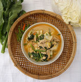 Homemade Thai style spicy vegetable with chicken soup Royalty Free Stock Photography