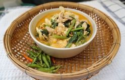 Homemade Thai style spicy vegetable with chicken soup Stock Images