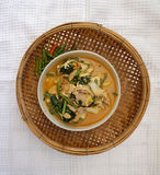 Homemade Thai style spicy vegetable with chicken soup Stock Photography