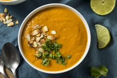 Homemade Thai Sweet Potato Soup Royalty Free Stock Photography