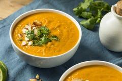 Homemade Thai Sweet Potato Soup Royalty Free Stock Images
