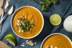 Homemade Thai Sweet Potato Soup Stock Photos