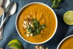 Homemade Thai Sweet Potato Soup Stock Photo