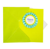 Homemade Thank You Card Royalty Free Stock Image