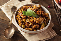 Homemade Thanksgiving Day Stuffing. With Sage and Celery Stock Image