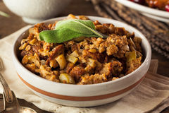 Homemade Thanksgiving Day Stuffing Royalty Free Stock Photo