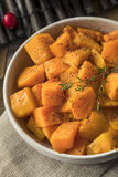 Homemade Thanksgiving Roasted Squash. With Pepper and Herbs royalty free stock photo