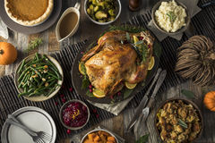 Homemade Thanksgiving Turkey Dinner Stock Image