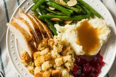 Free Homemade Thanksgiving Turkey Dinner With Stuffing Potatoes Royalty Free Stock Photo - 163429675