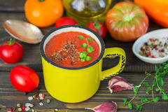 Homemade thick spicy vegetable soup Royalty Free Stock Photography